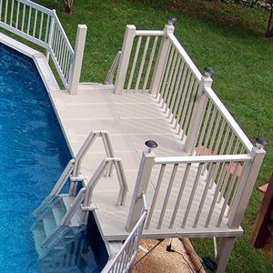 Vinyl Works 5 X 10 Resin Pool Deck #patiodepapas