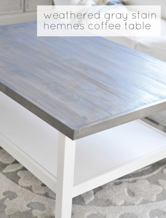 Wood Top Weathered Gray Stain Hemnes Coffee Table Ikea