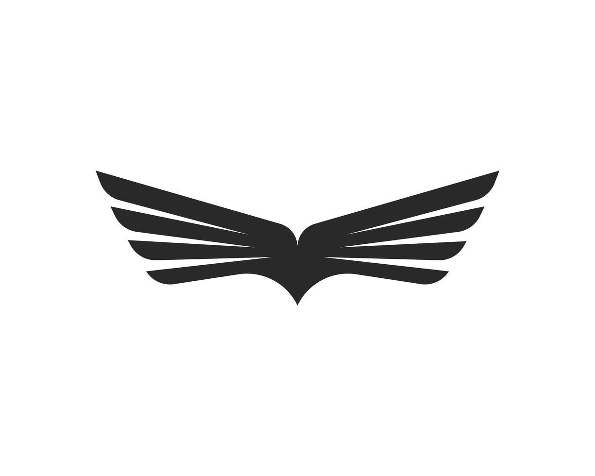 Falcon Wing Logo Template Vector Icon Design Wings Logo Simple Logo Design Logo Design Art