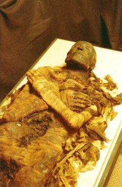 A múmia de Seti I - Faraó do Egito Antigo, pai de Ramsés, o Grande.