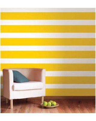 Lello Yellow Stripe Decal Bundle Vinyl Wall Art