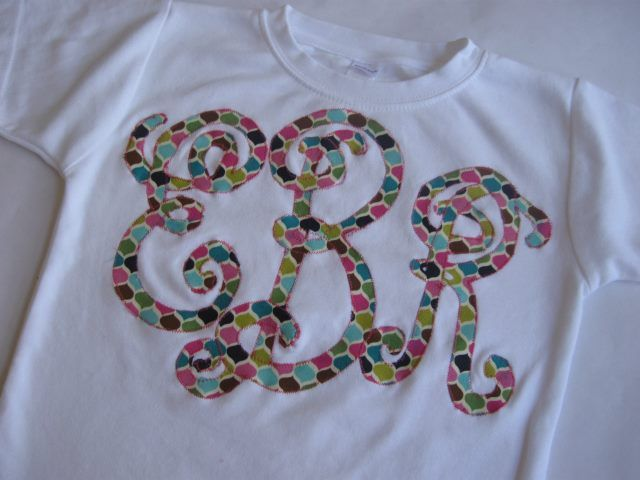 this giant monogram on a tee is so southern and sweet with an up to date twist- love it!
