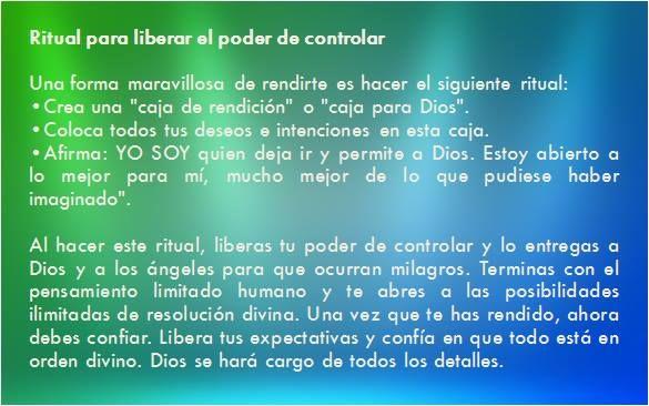 #UniversoDeAngeles  Ritual para liberar el poder de controlar.