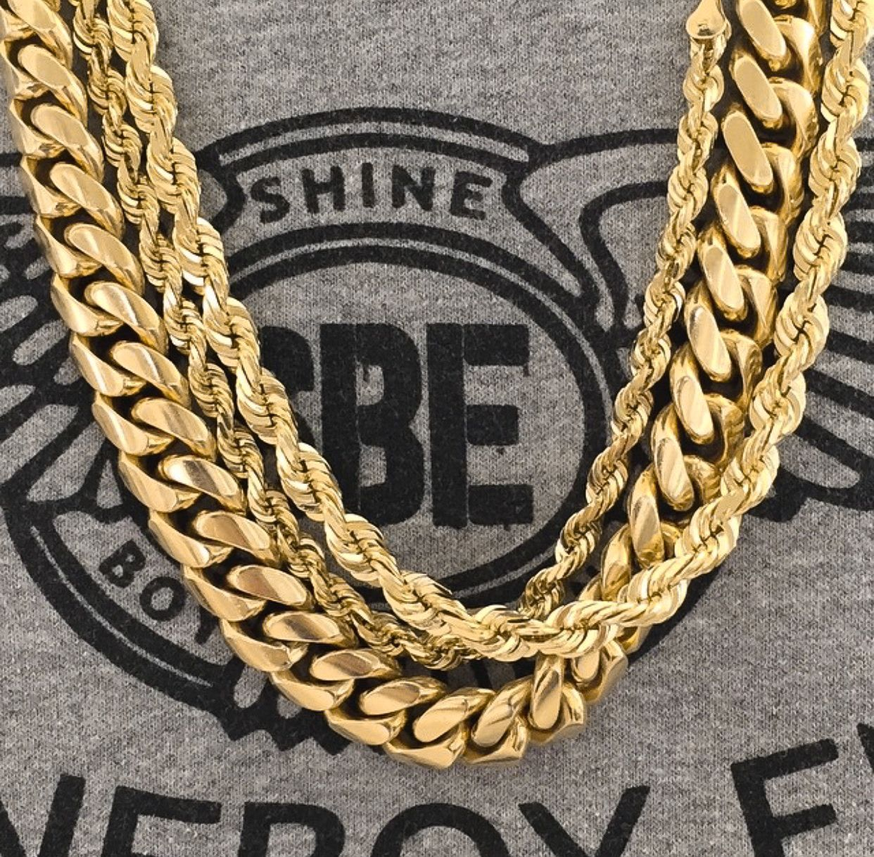 e2d79ffc4 The Perfect Stack Featuring the 10mm Miami Cuban link chain 28