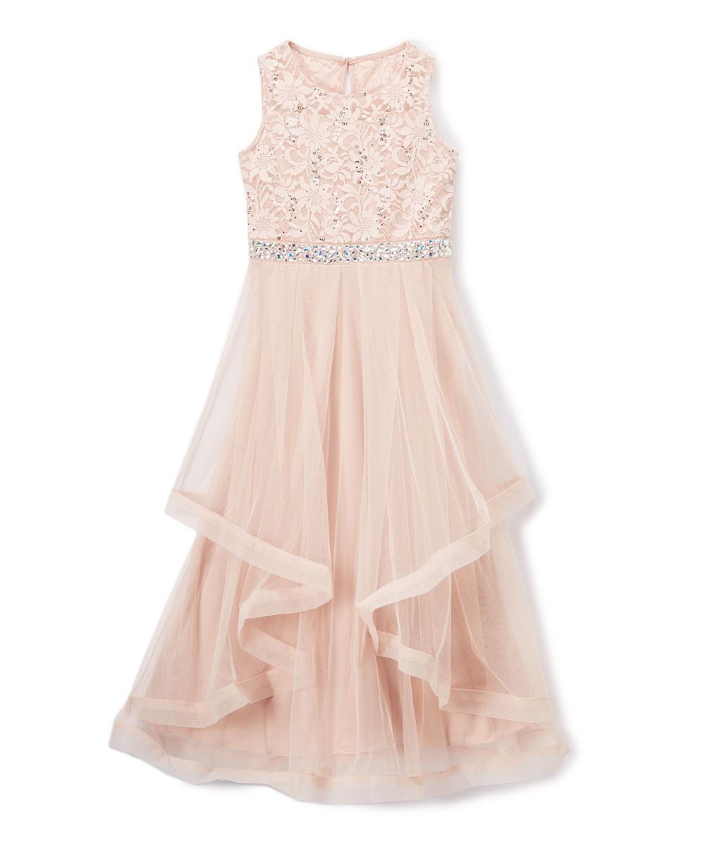 Casual wedding dresses for fuller figures  Little ones look charming with this twirlworthy dress featuring