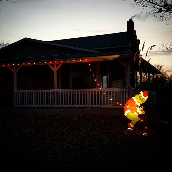 Https Www Etsy Com Listing 253173264 Grinch Yard Art Outdoor Christmas Ref Shop Home Grinch Christmas Decorations Outdoor Christmas Christmas Lights Outside