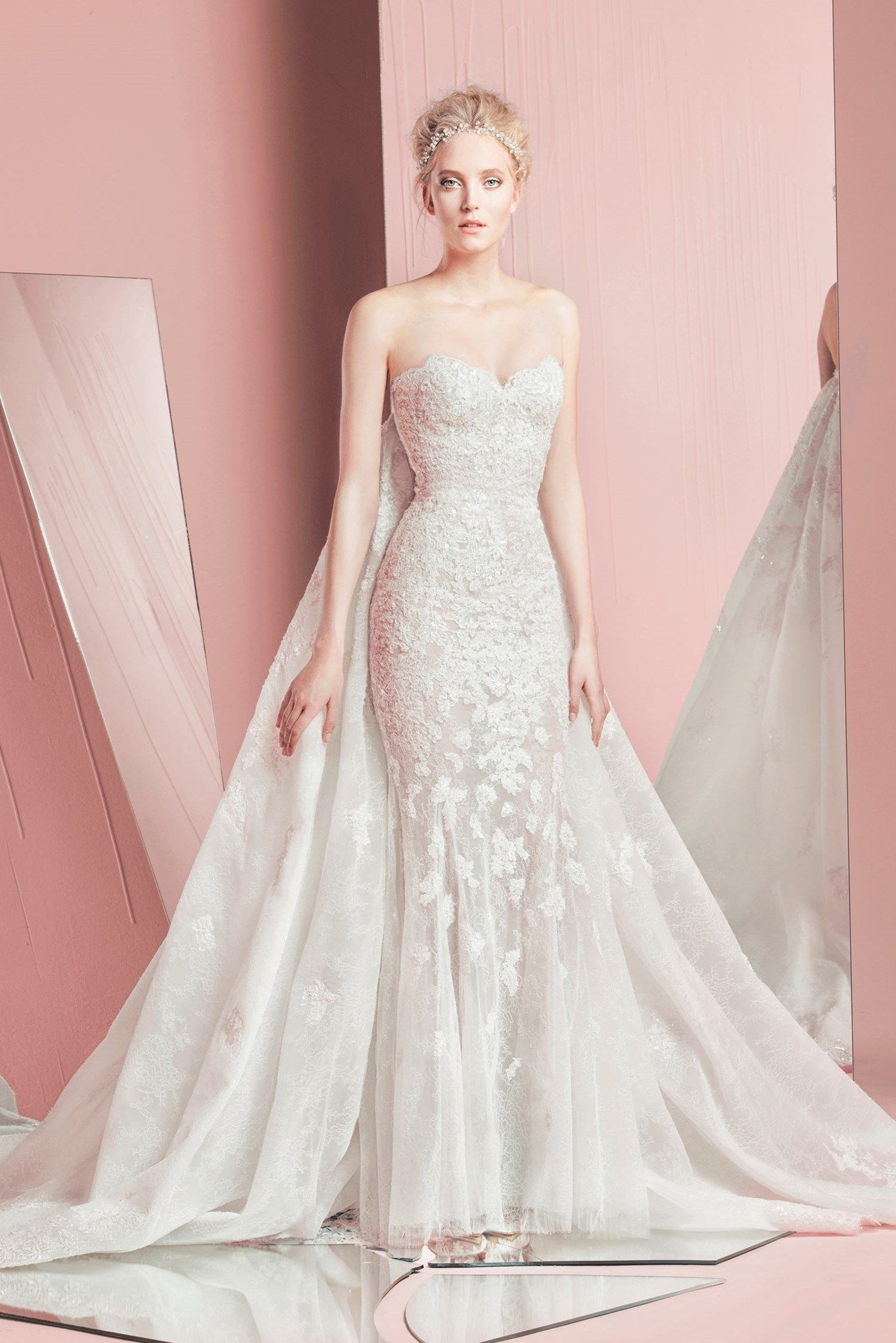 Zuhair murad petra with train spring summer 2016 sold for Zuhair murad wedding dresses prices