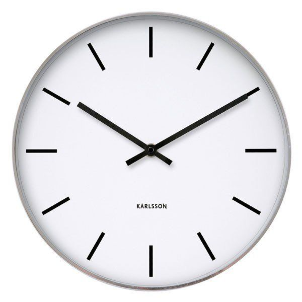 Photo Wall Clock karlsson station classic wall clock | classic wall clocks, white