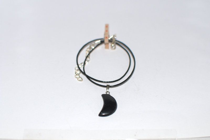 Plain Black moon charm necklace  Soon to be available on Etsy