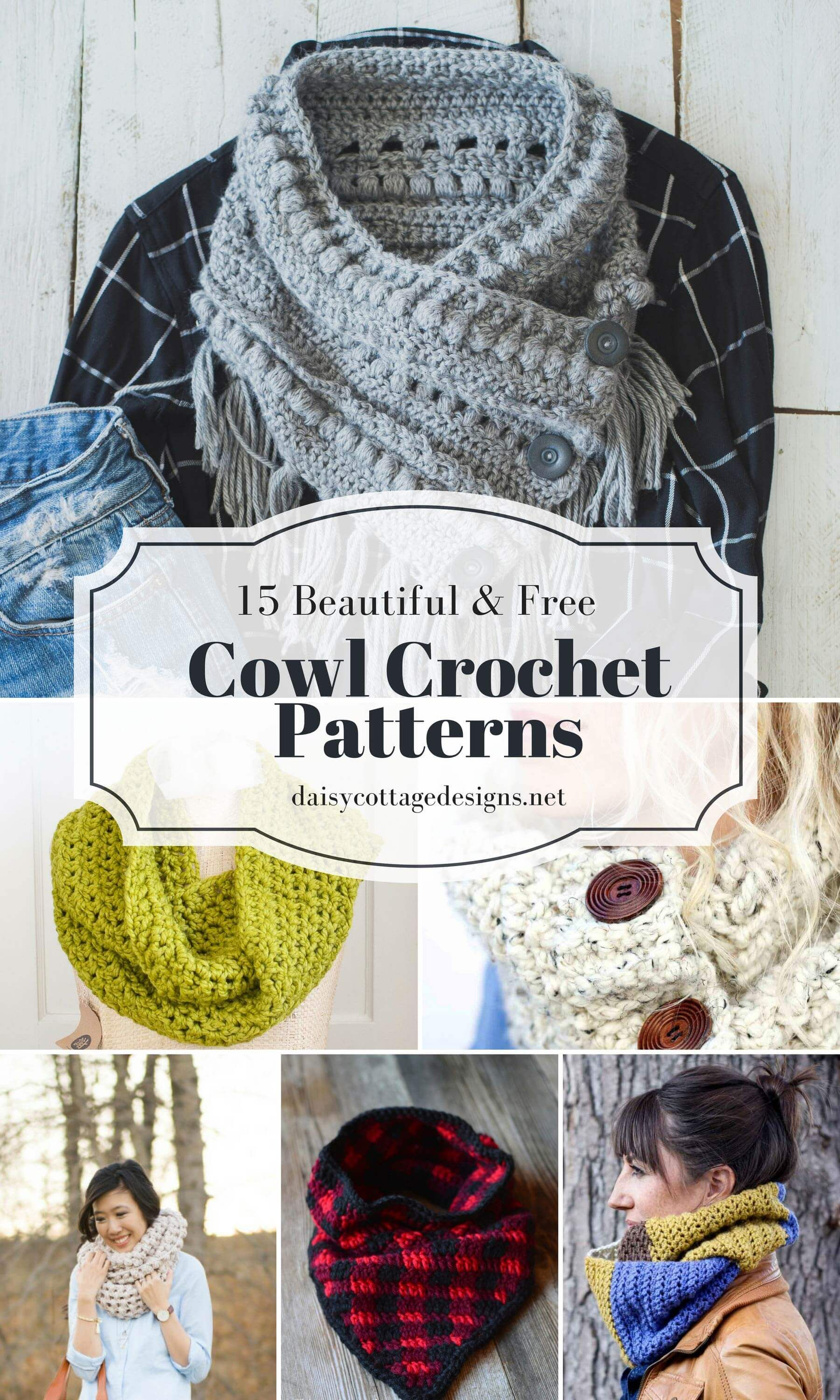 Free Cowl Crochet Patterns: 15 Beautiful Projects | Chal, Tejido y ...