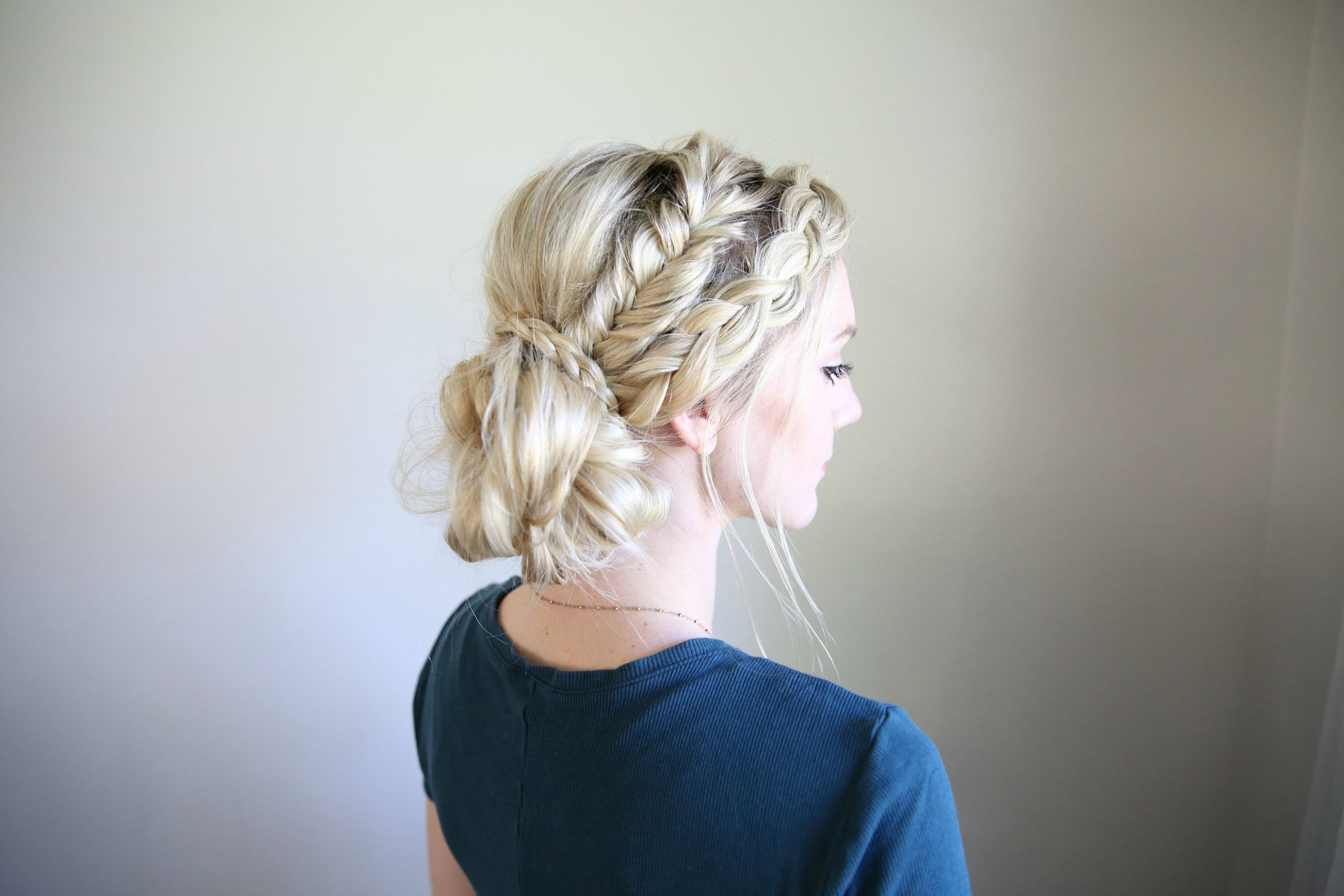 Mixed Braid Bun   Cute Girls Hairstyles   little girl\'s hair ...