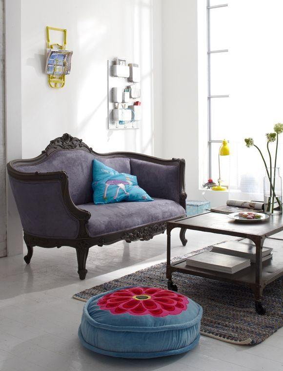Tendência 2016 salas de estar vintage e coloridas Modern, Modern - salas vintage