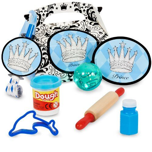 4 Filled Favor Boxes BirthdayExpress Lil Prince Party Supplies