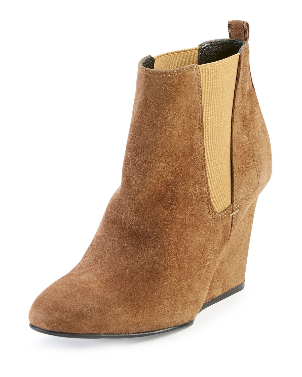 18587272df1e Suede Wedge Chelsea Boot