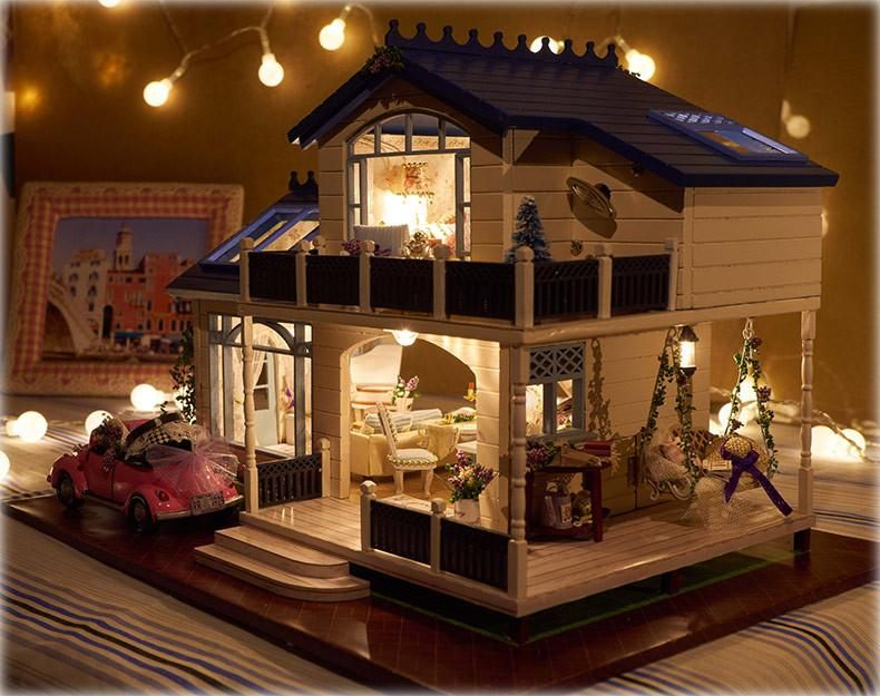 DIY Miniature Wooden Doll House [Code A032]