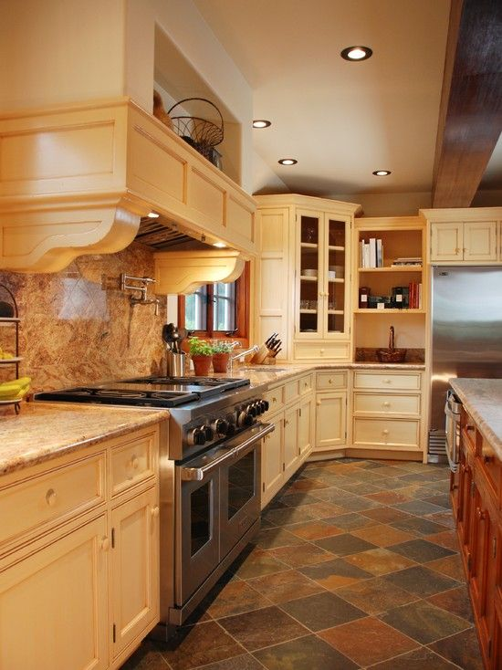 Kitchen Slate Floor Design, Pictures, Remodel, Decor and Ideas ...