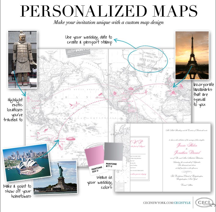 Personalized Maps - Make your invitation unique with a custom map ...