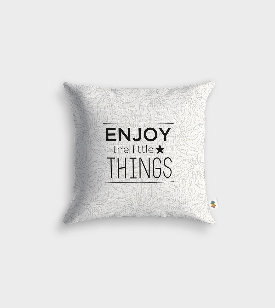 Coussin Enjoy The Little Things 45x45cm Messages