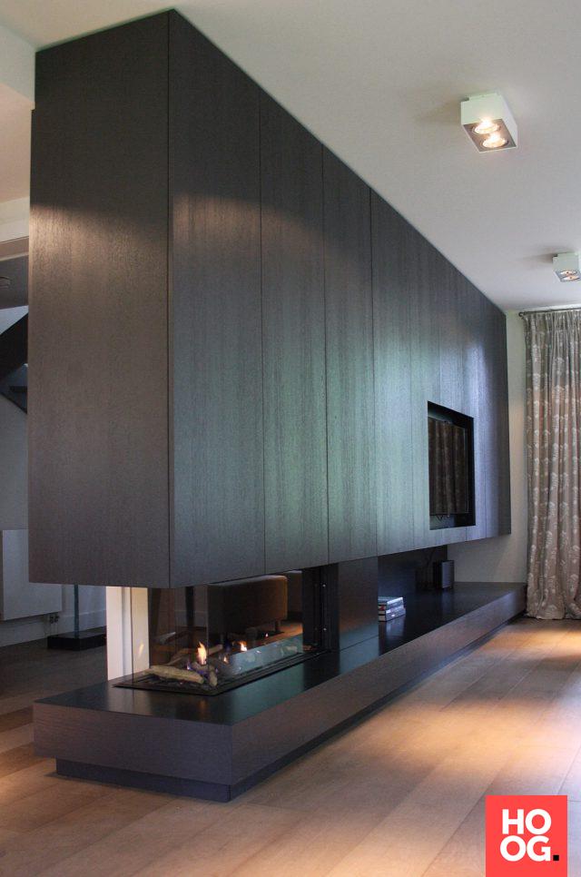 Luxe maatwerk meubel in woonkamer   Fireplace   Pinterest   Fire ...
