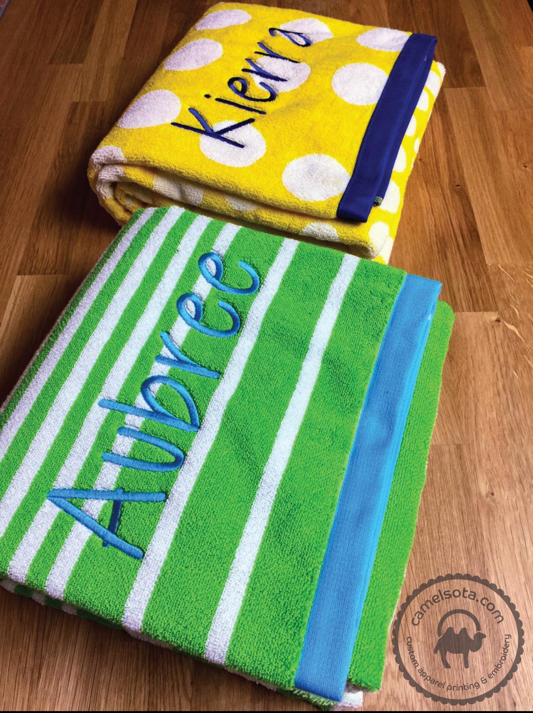 Custom Embroidered Charisma Extra Large Resort Beach Towel 35 X