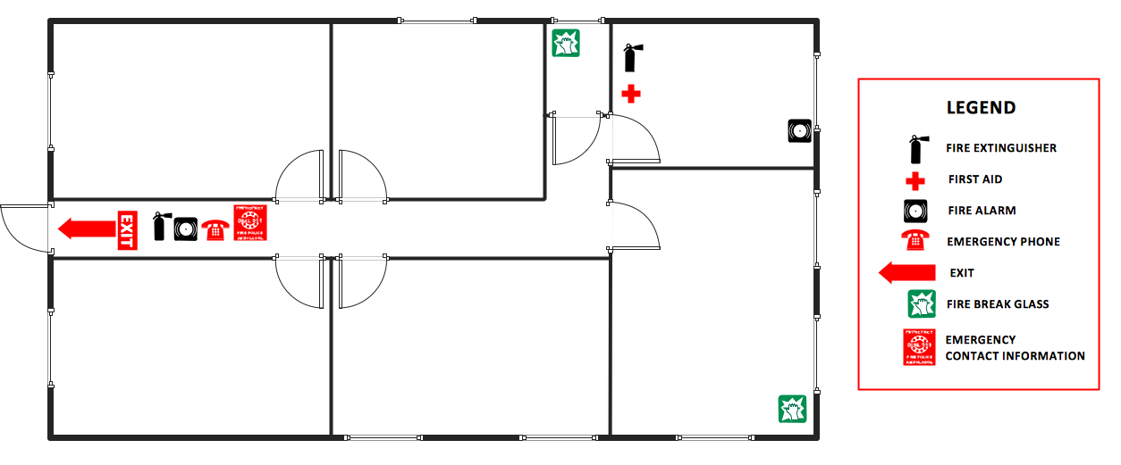 Office Evacuation Plan Building Plans Fire And Emergency Plans