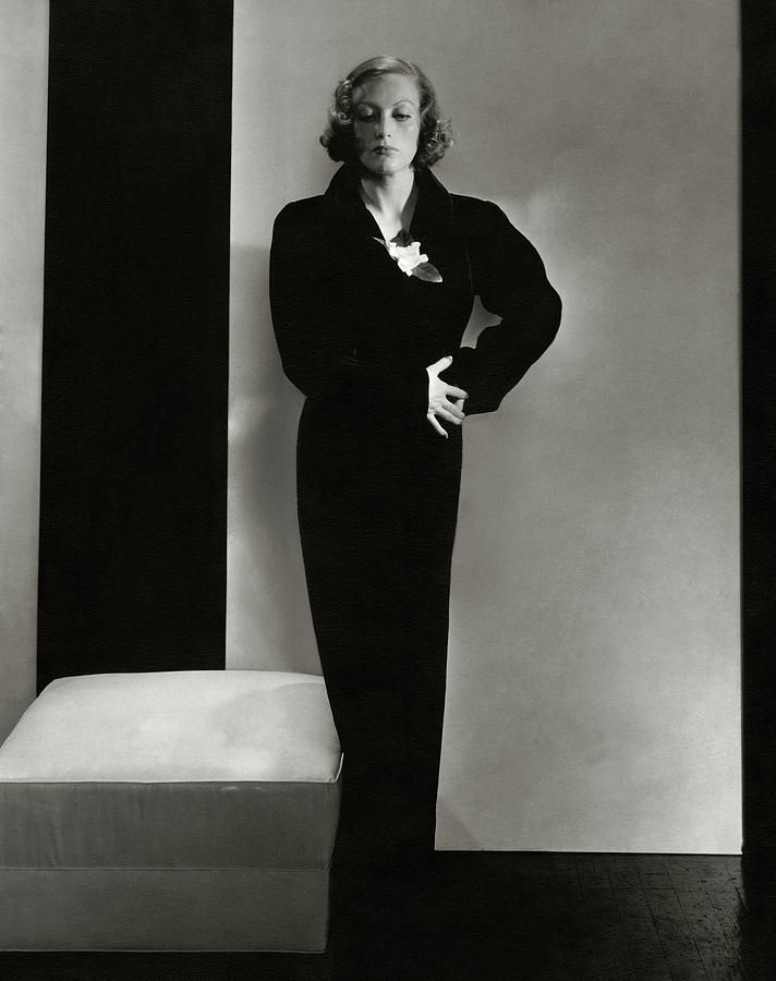 Photograph - Joan Crawford Wearing A Schiaparelli Dress by Edward Steichen #affiliate , #AD, #SPONSORED, #Crawford, #Joan, #Edward, #Wearing