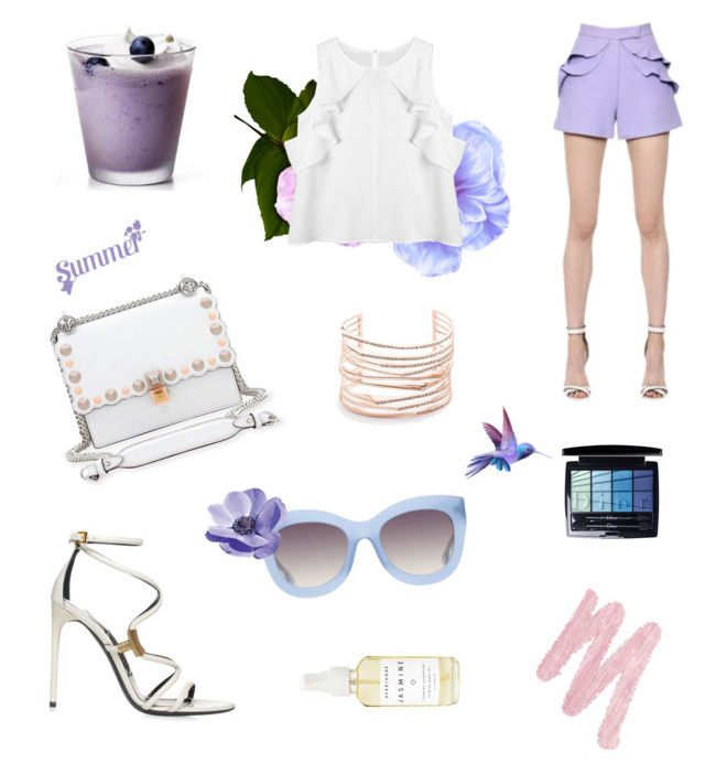 """""""Lilac"""" by irissaa997 ❤ liked on Polyvore featuring Elie Saab, Fendi, Alexis Bittar, Alice + Olivia, Urban Decay, A Weathered Penny and Christian Dior"""