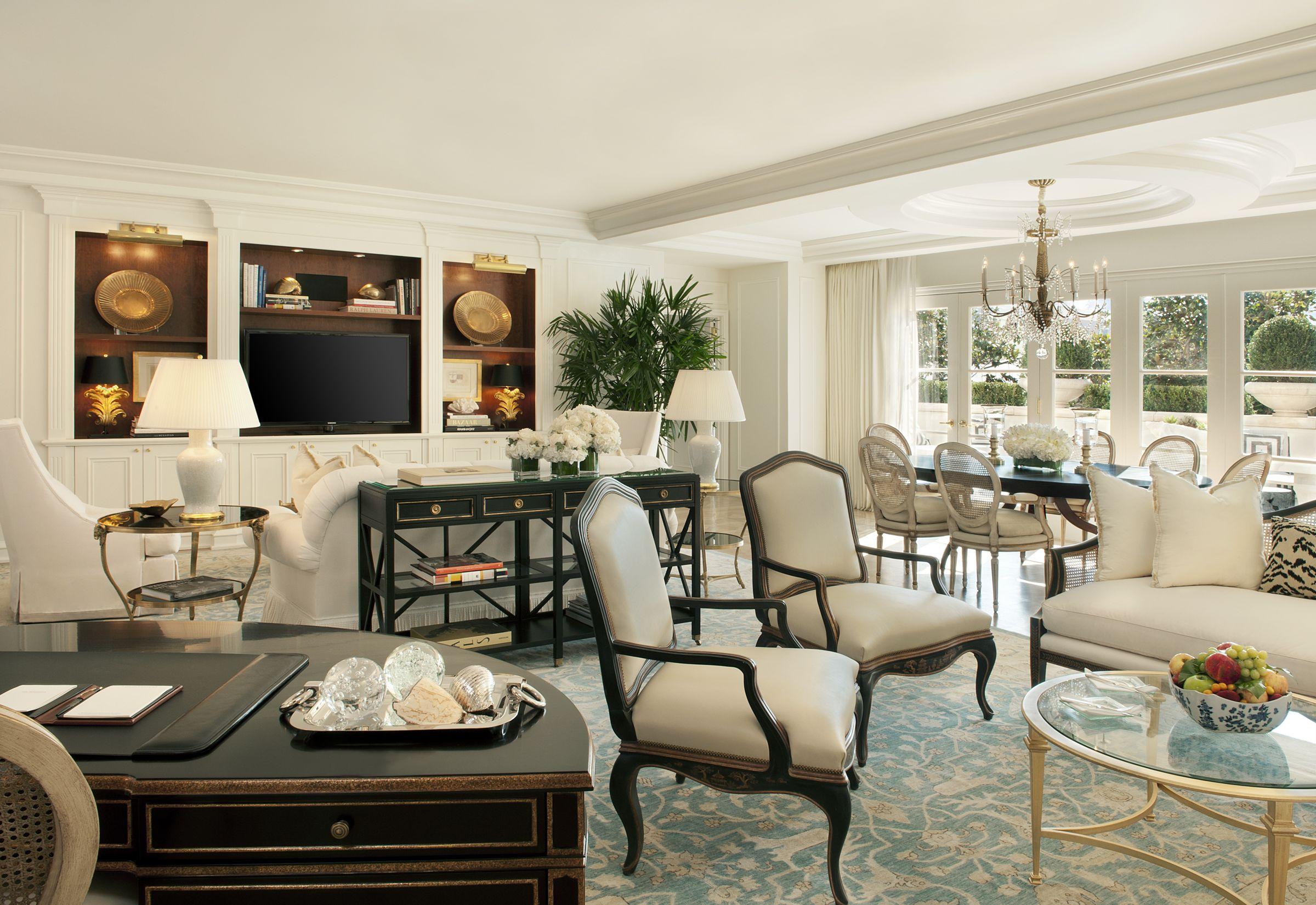 Peninsula Hotel Beverly Hills Living Room