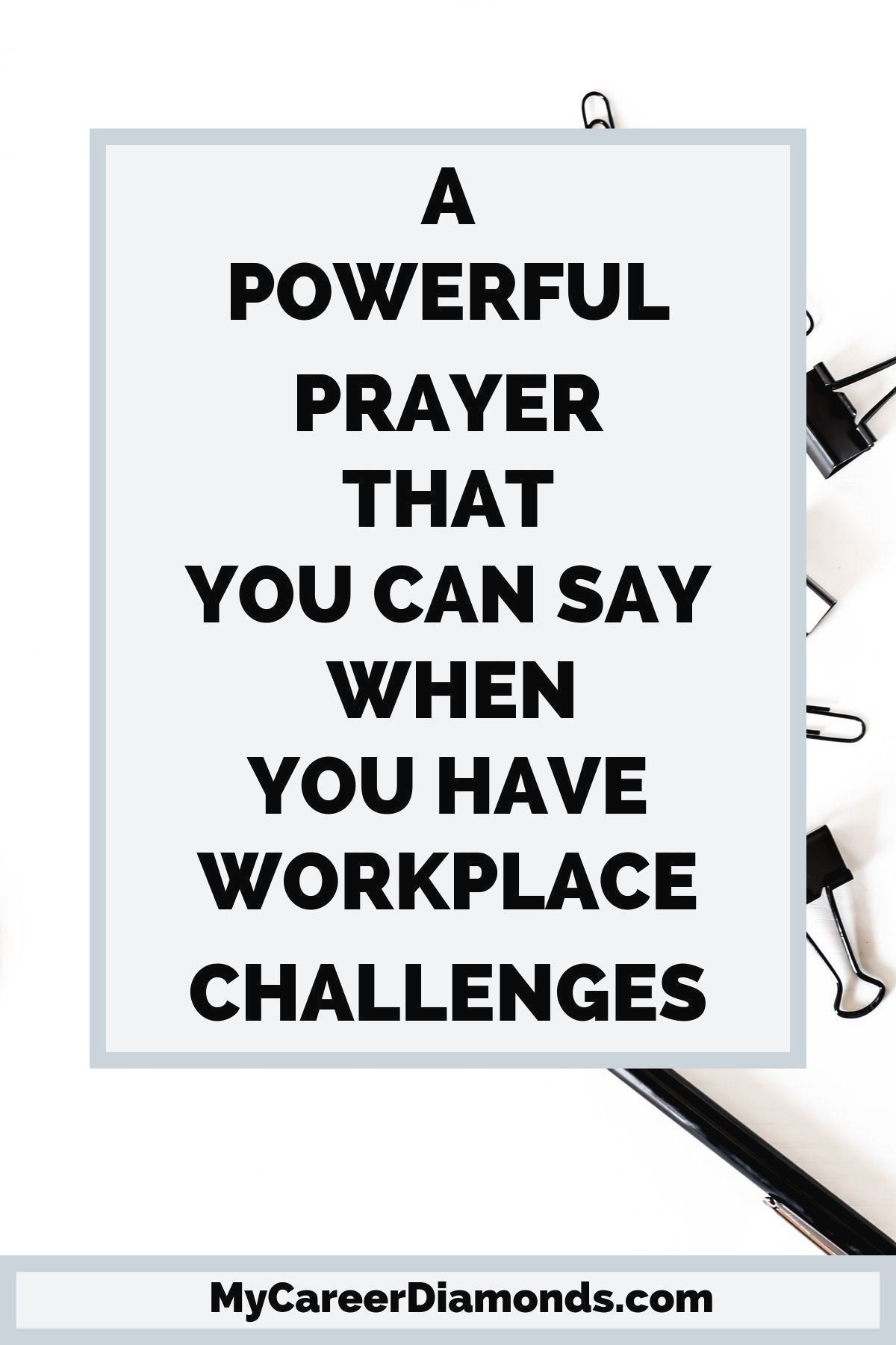 Are you having challenges at work? Here is a short and