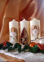 Bildergebnis für kerzen verzieren weihnachten