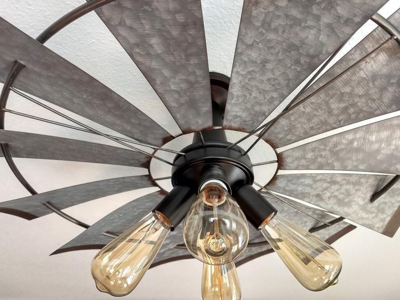 Windmill Farmhouse Flush Mount Light Fixture Original Etsy In 2021 Flush Mount Ceiling Light Fixtures Ceiling Fan With Light Light Fixtures Flush Mount Flush mount industrial ceiling fan