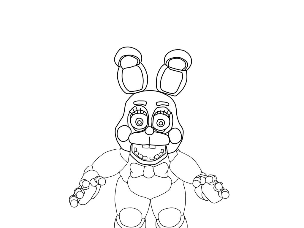 acabei de terminar mais um desenho dos animatronics de fnaf 2 nosso