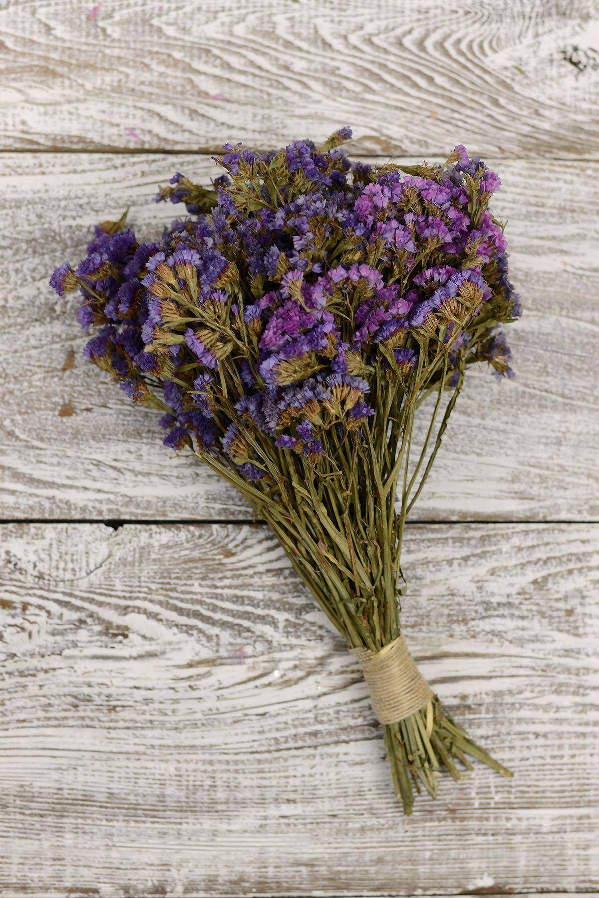Preserved Purple Statice Bouquet 1014in 4oz Purple