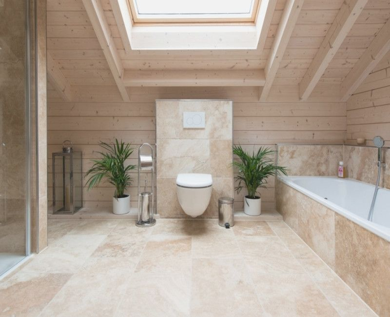 Holzdecke Schraege Kazanlegendfo Farmhouse Bathroom Decor Travertine Bathroom Inspiration