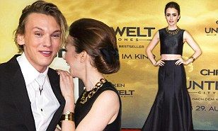 The Mortal Instruments: City of Bones: Lily Collins joins Jamie Campbell Bower at movie premiere | Mail Online