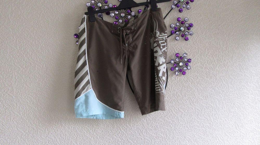 Khaki Brown Lace Up  Front    Long Shorts Size 10 -12
