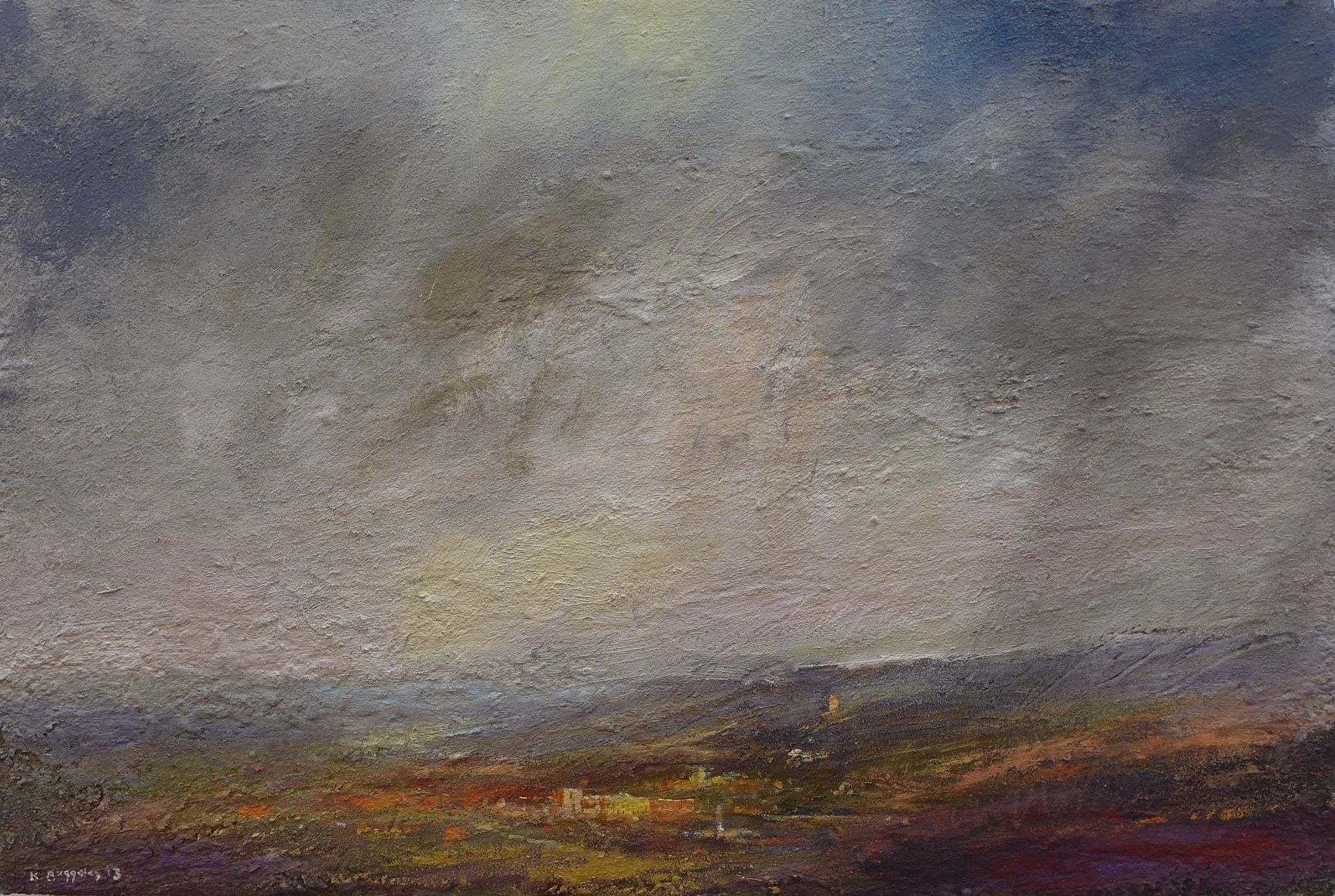 Kristan Baggaley: 'Autumn Shower over Chatsworth'. Part of the Chatsworth exhibition at gallerytop starting 10 May 2014