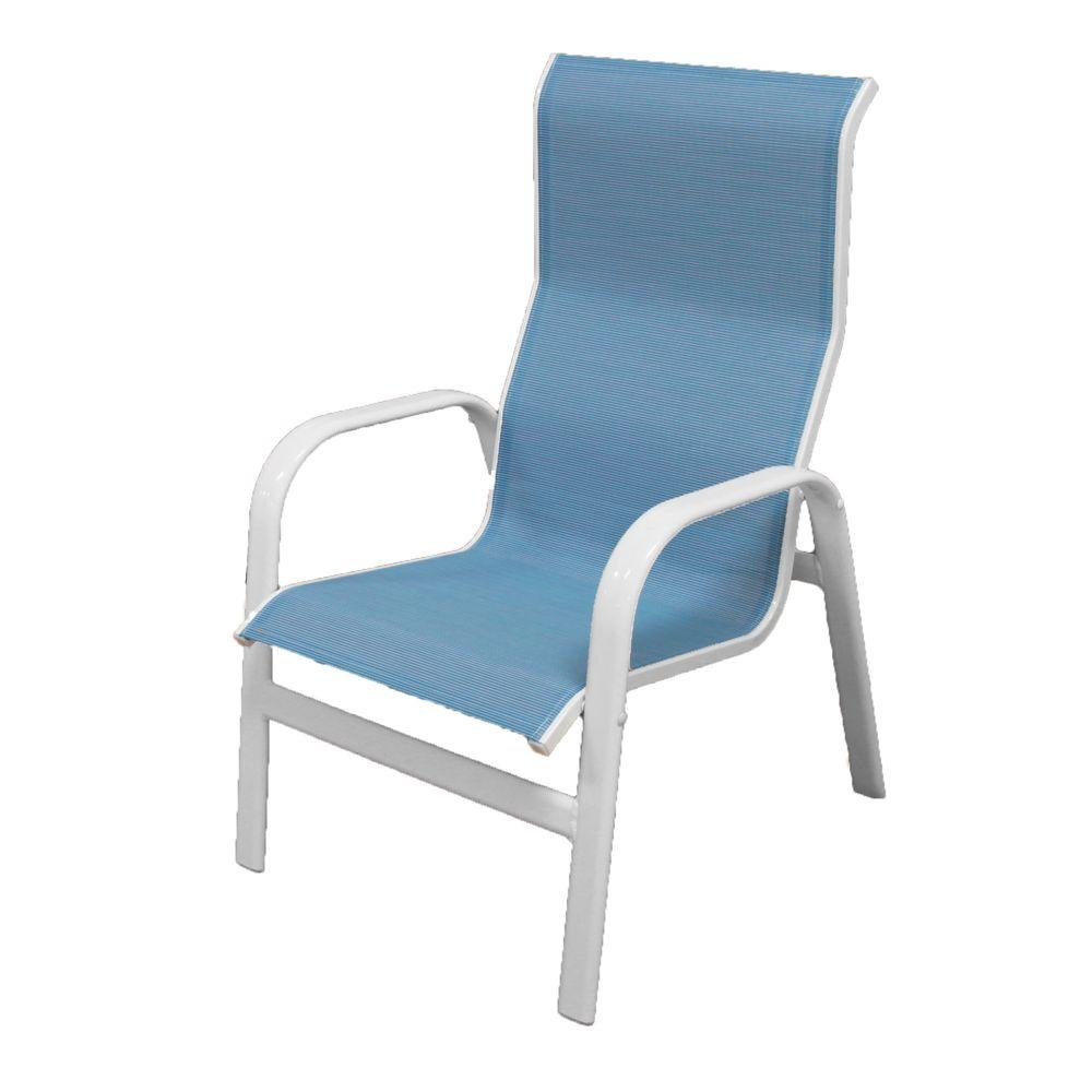 Marco Island White Commercial Grade Aluminum Patio Dining Chair With Dupione Poolside Sling 2 Pack 3108 W Dp Patio Dining Chairs Aluminum Patio Island Chairs