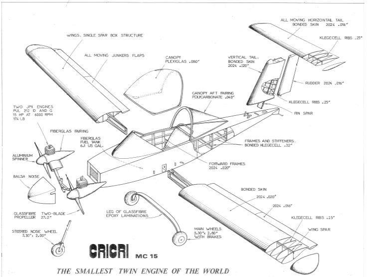 Cri cri airplane cutaway drawings #cricri #ultralight #
