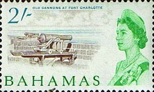 Postage Stamps of Bahamas 1965 SG 257 Old Cannons at Fort Charlotte Other Bahamas Stamps HERE