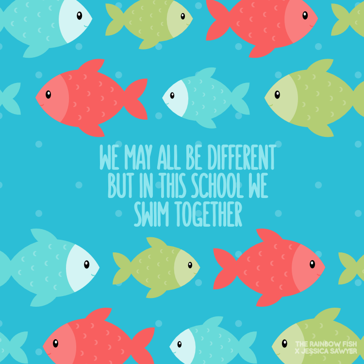 The Rainbow Fish Quote And Clipart Fishing Quotes Rainbow Fish Sea Quotes