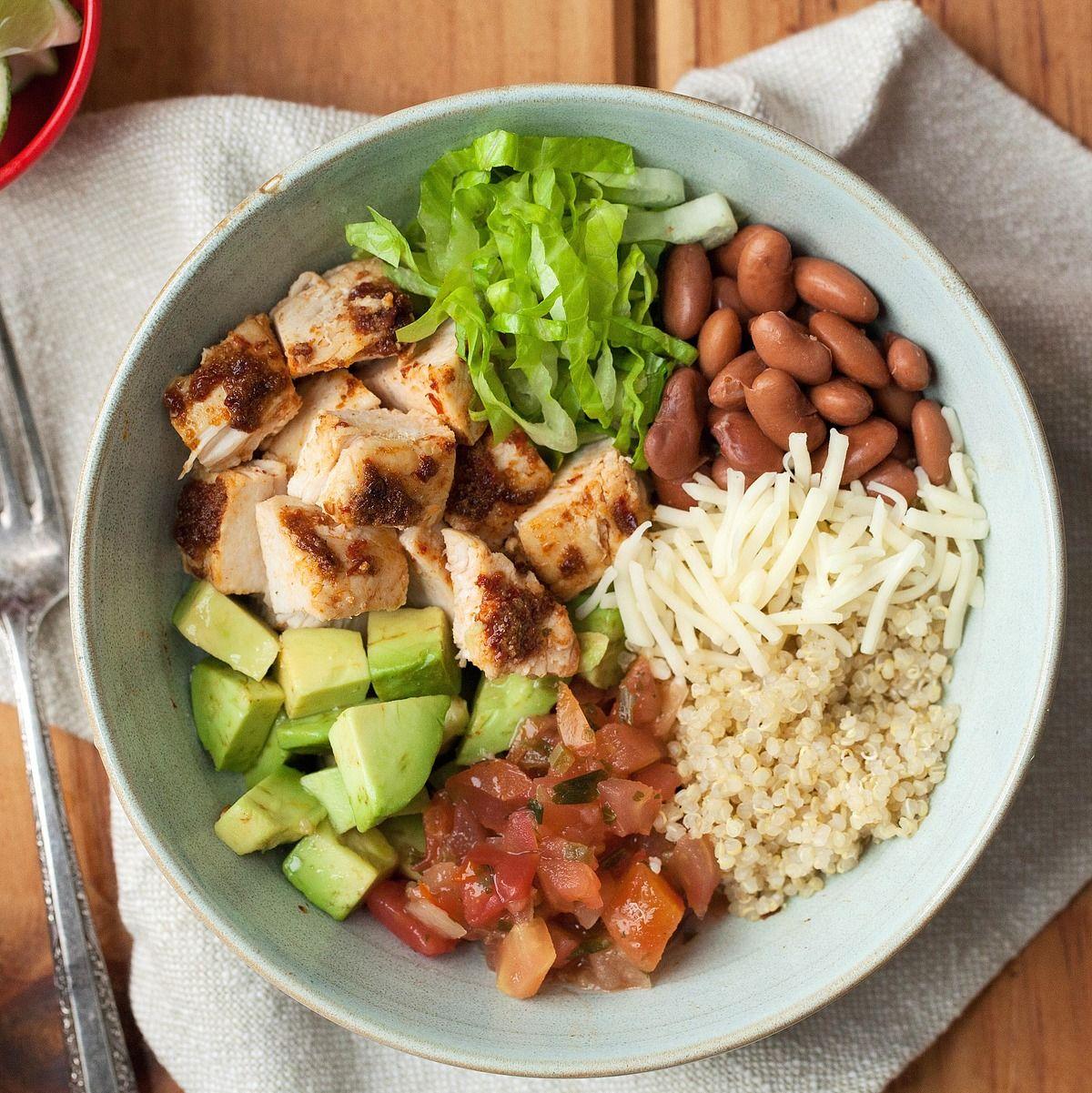 Chipotle chicken quinoa burrito bowl recipe high fiber