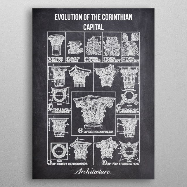 evolution of the corinthia by FARKI15 DESIGN | metal posters - Displate | Displate thumbnail