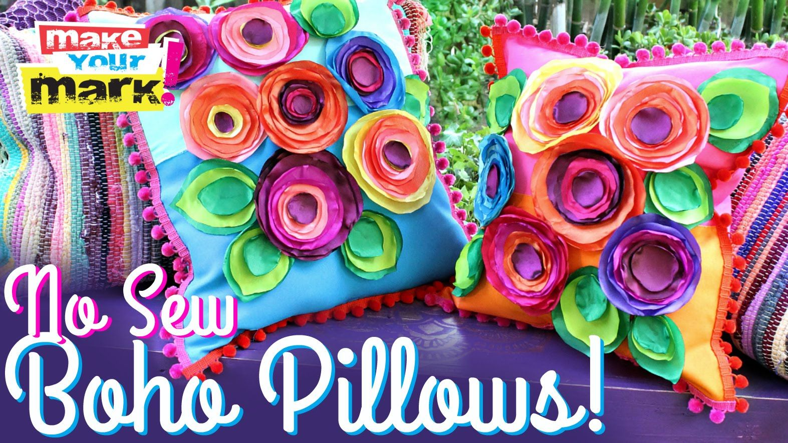 Add a vibrant burst of color to your home with boho flower pillows! Subscribe to…