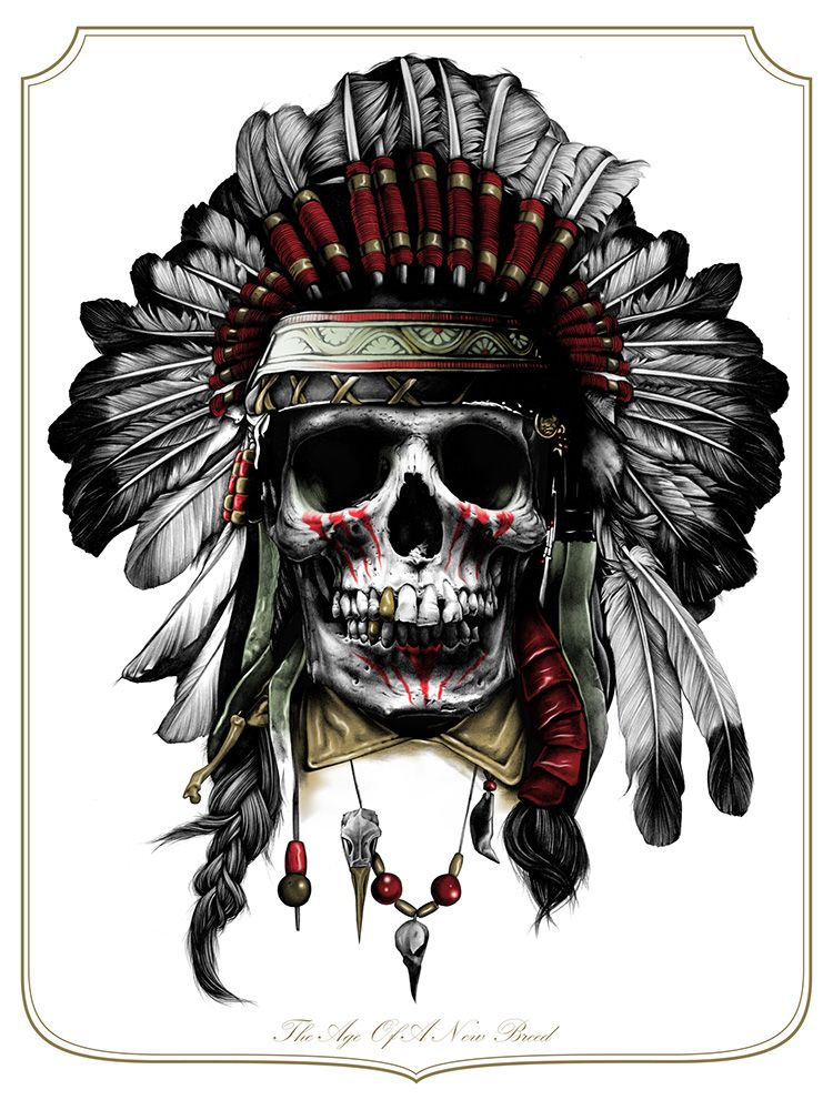 pics for  gt  indian chief skull logo American Indian Chief New Indian Chief