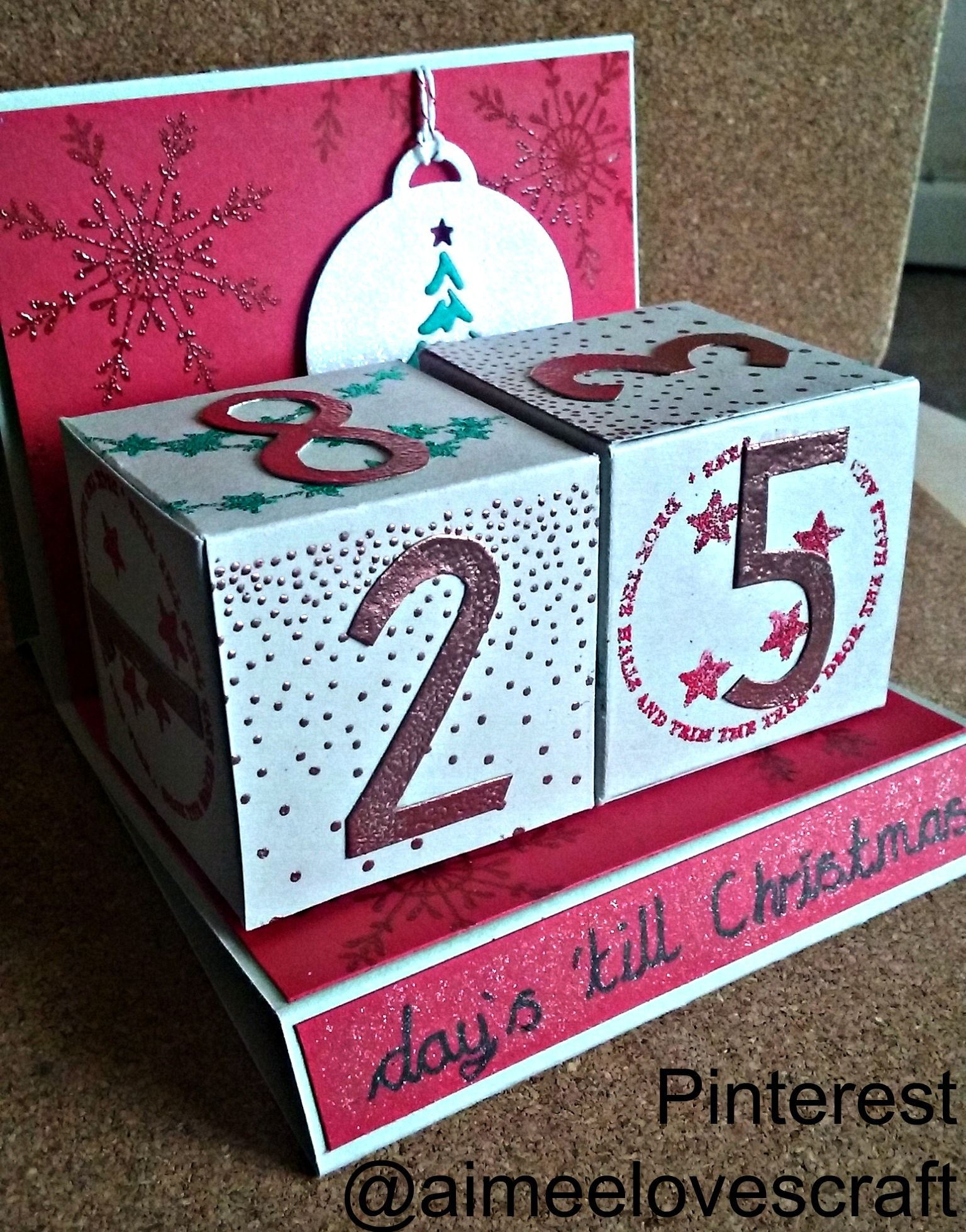 My Christmas Countdown calendar ready for December. Please see my ...
