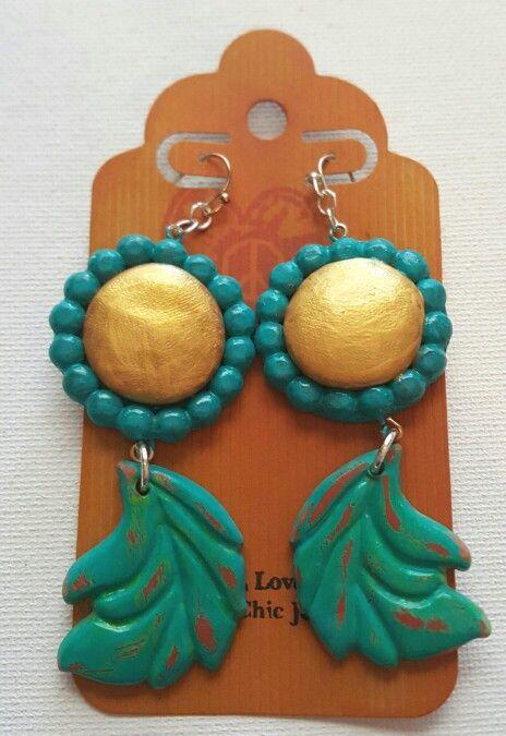 Hand sculpted earrings,  love them? Purchase them here: https://m.facebook.com/Hippiechicjewelz/