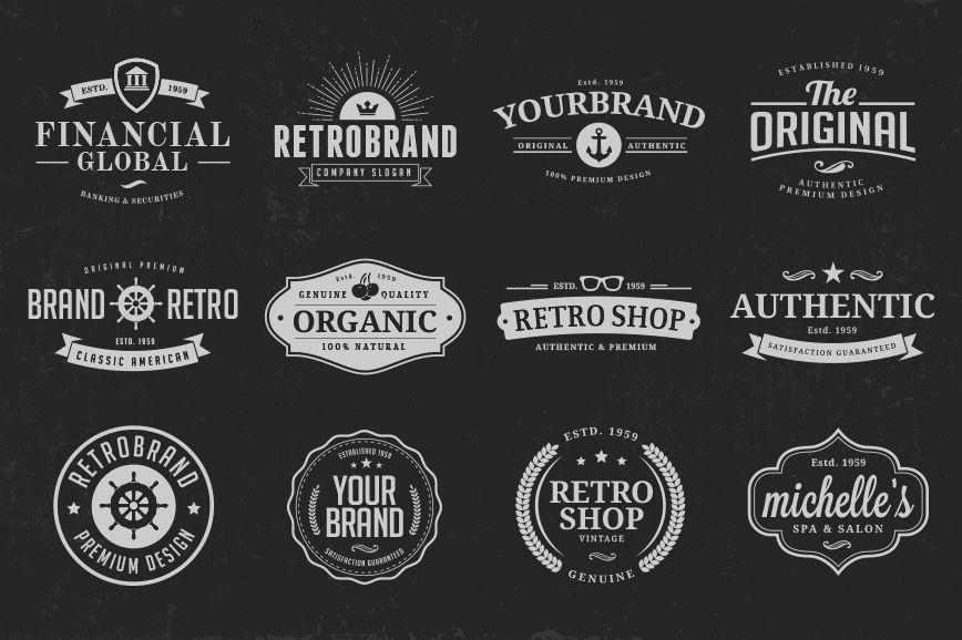 Vintage Logo Design Templates Vol. 3   Vintage logo design, Logo ...