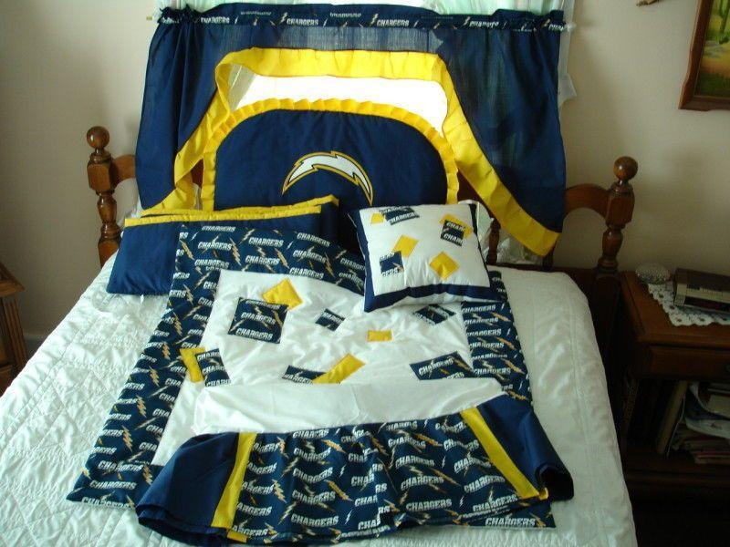 Custom made baby nursery crib bedding set made with san diego custom made baby nursery crib bedding set made with san diego chargers new negle Images