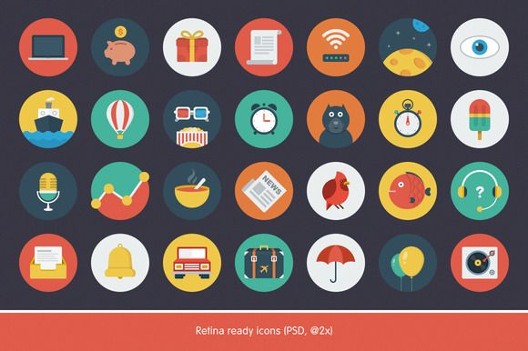 Ballicons — icons set / 25% off ~ Icons on Creative Market